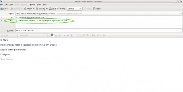 Envio de emails eGO